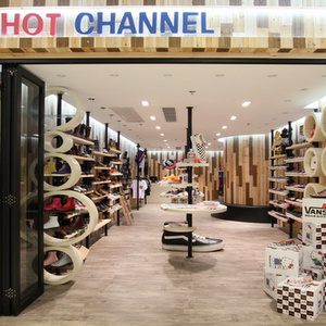 Hot Channel shoe shop Mikiki Mall Hong Kong