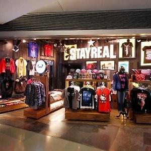 StayReal clothing store Langham Place Hong Kong
