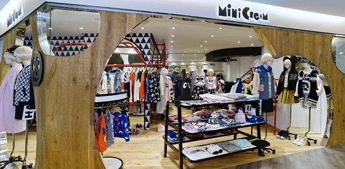 Mini Cream womenswear streetwear store in Windsor House, Hong Kong.