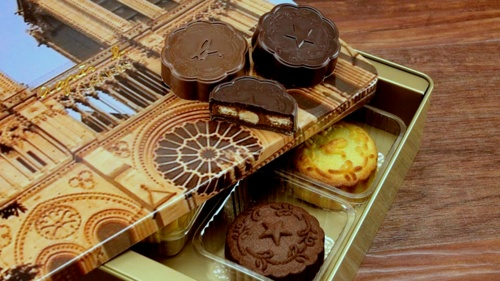 agnès b. DÉLICES mooncake box set in Hong Kong.