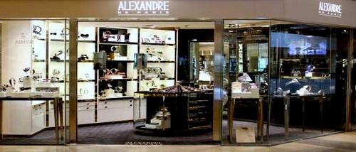 Alexandre de Paris accessory shop at Pacific Place mall in Hong Kong.