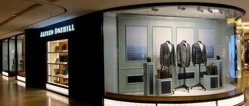 Alfred Dunhill shop within Pacific Place mall in Hong Kong.