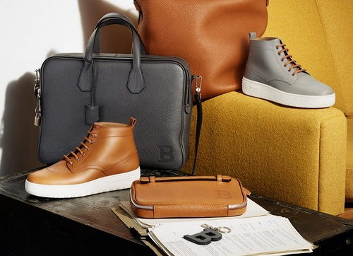 Bally men's shoes, bags, accessories.