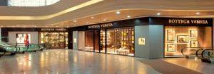 Bottega Veneta shop at Times Square mall in Hong Kong.
