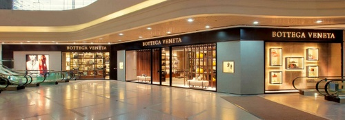 Bottega Veneta shop at Times Square mall in Hong Kong.