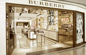 Burberry Beauty Box store within Times Square HK mall.