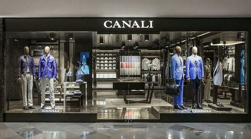 Canali clothing shop at Pacific Place mall in Hong Kong.