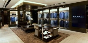 Canali men's clothing shop at Wheelock House in Hong Kong.