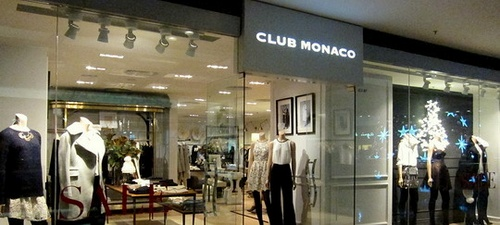 Club Monaco store at Festival Walk in Hong Kong.