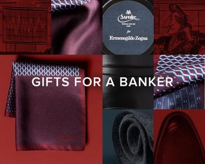"Ermenegildo Zegna ad ""Gifts for a Banker""."