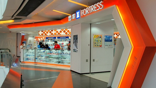 Fortress electronics store at APM shopping mall in Hong Kong.