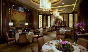 Golden Leaf Chinese restaurant at Conrad Hong Kong Hotel.