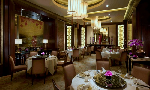 Golden Leaf Chinese restaurant at Conrad Hong Kong Hotel.