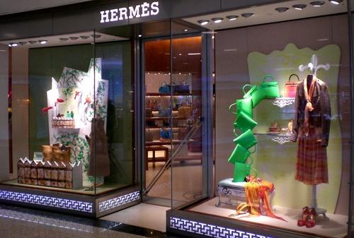 Hermès shop at Lee Gardens mall in Hong Kong.