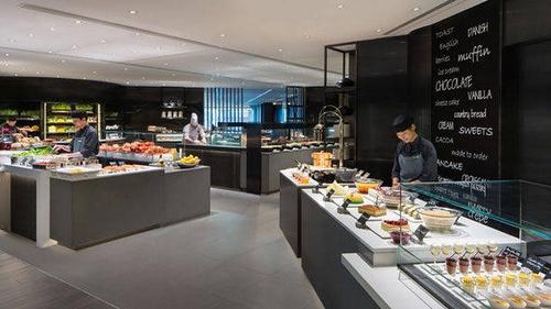 JW Café restaurant at JW Marriott hotel in Hong Kong.