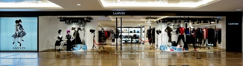 Lanvin shop within Harbour City mall in Hong Kong.