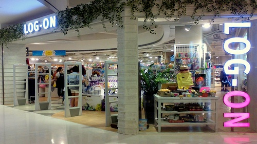 LOG-ON store at the APM shopping mall in Hong Kong.