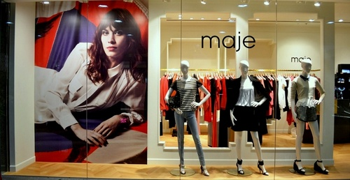 Maje clothing shop at Times Square mall in Hong Kong.