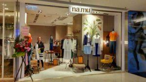 na.mu clothing store in APM shopping center, Hong Kong