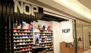 NOP hat store within APM shopping mall.