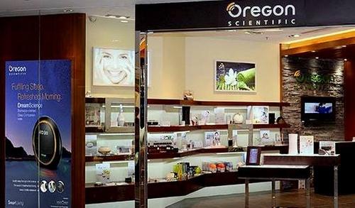 Oregon Scientific electronics store in Hong Kong.