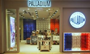 Palladium shoe store at the Olympian City shopping mall in Hong Kong.