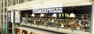PizzaExpress restaurant at Hong Kong International Airport.