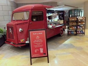 Plat du Jour French bistro food truck at Pacific Place mall in Hong Kong.