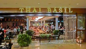 Thai Basil Thai restaurant at Pacific Place in Hong Kong.