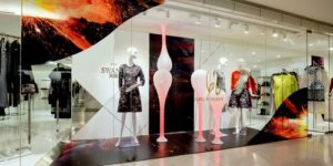 The Swank clothing store at Landmark Atrium in Hong Kong.