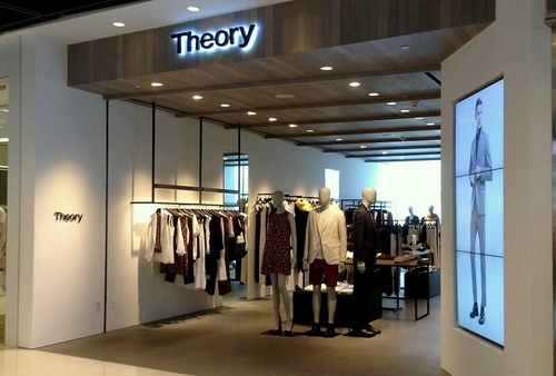 Theory clothing shop ifc mall in Hong Kong.