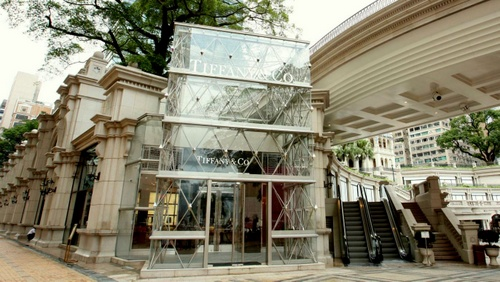 Tiffany & Co. jewellery store at 1881 Heritage mall in Hong Kong.