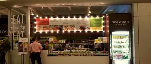 Toss & Turn salad bar restaurant in Hong Kong.