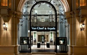 Van Cleef & Arpels jewelry and watch shop at 1881 Heritage mall in Hong Kong.