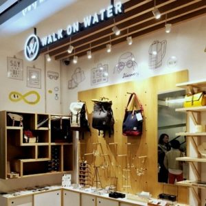 Walk on Water accessory and clothing store at the APM shopping mall in Hong Kong.