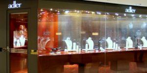 Adler jewellery store The Landmark Hong Kong.