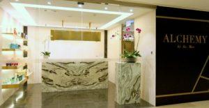 Alchemy hair & nail salon The Landmark Hong Kong.