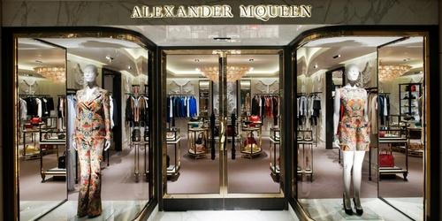 Alexander McQueen store Landmark Hong Kong.