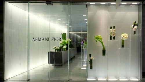 Armani/Fiori flower shop Landmark Hong Kong.