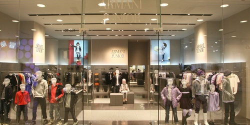 Armani Junior children's clothing store Landmark Hong Kong.