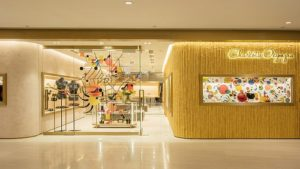 Charlotte Olympia shoe & accessories store at Landmark Atrium shopping centre in Hong Kong.