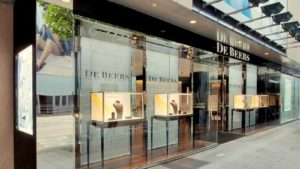 De Beers diamond jewellery store Landmark Hong Kong.