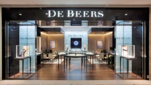 De Beers diamond jewellery store Times Square Hong Kong.