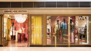Dries Van Noten women's clothing store Landmark Atrium Hong Kong.