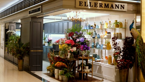 Ellermann flower boutique Landmark Hong Kong.