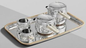 Georg Jensen silver tea set.