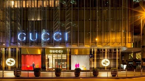 Gucci flagship store The Landmark Hong Kong.