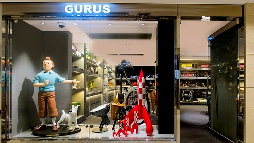 Gurus store The Landmark Hong Kong.