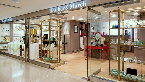 Heather & March homeware store The Landmark Hong Kong.