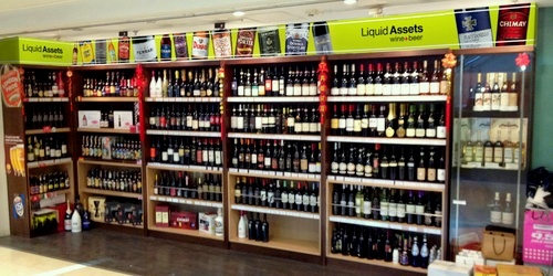 Liquid Assets wine & beer store The Landmark Hong Kong.